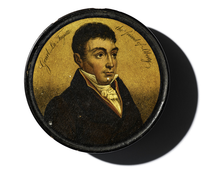 Small circular box given by Lafayette to his godson, Fayette Ball