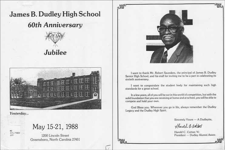Dudley High School Diamond Jubilee program, 1988
