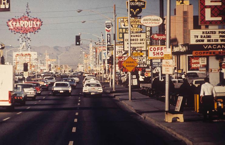 Las Vegas strip, 1965