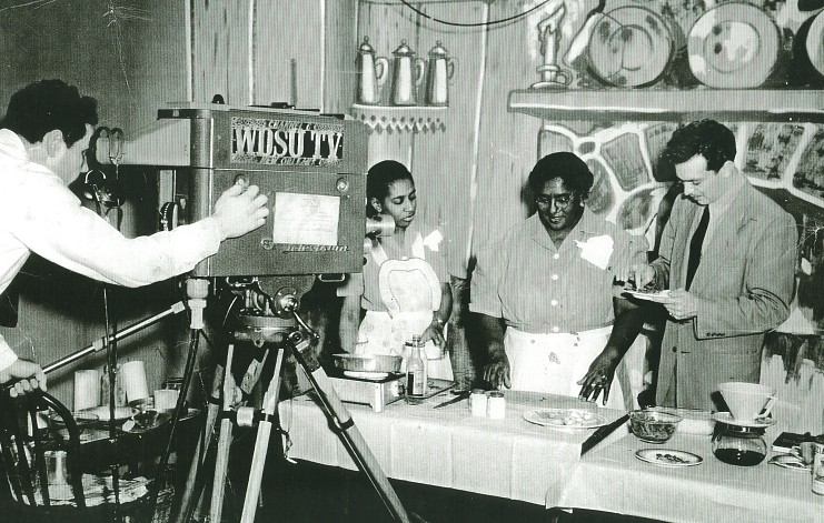 Filming Lena Richard (center) at WDSU-TV studio