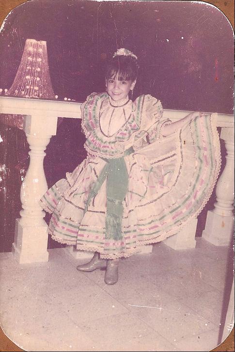 A young Verónica Dávilaat a coronation in Monterrey, Nuevo Leon, Mexico