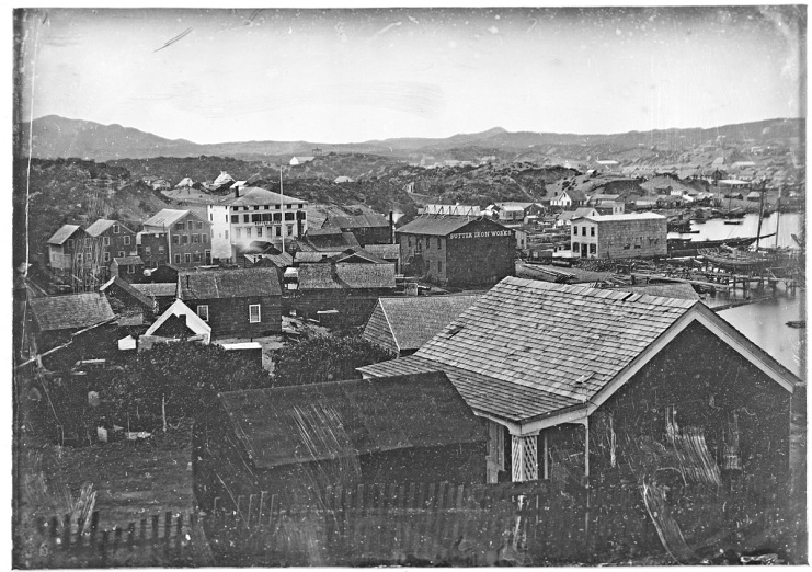 View of San Francisco, around 1852