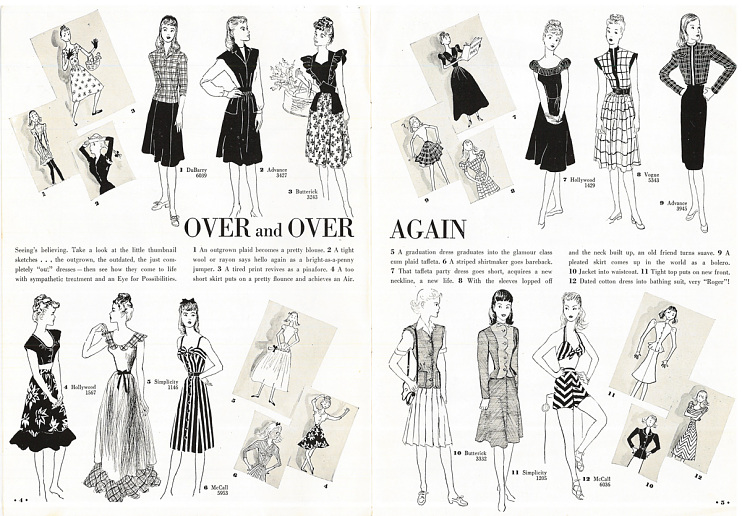 New Fashions to Sew from Old, 1940s–1950s