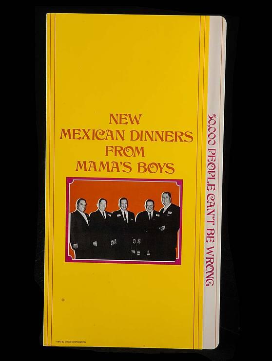El Chico menu, 1973