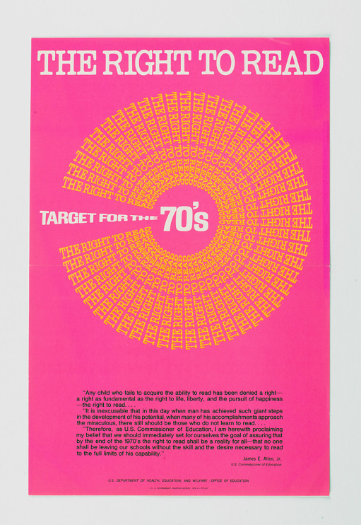Poster produced by the U.S. Department of Health, Education, and Welfare, 1970
