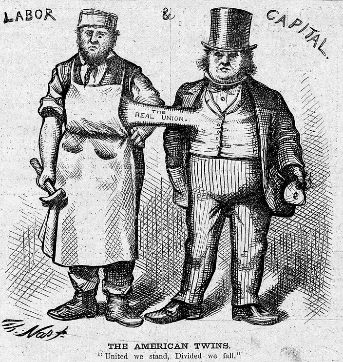 """""""The American Twins,"""" Harper's Weekly, 1874"""