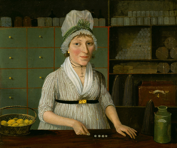 Glasgow woman shopkeeper, late 1700s