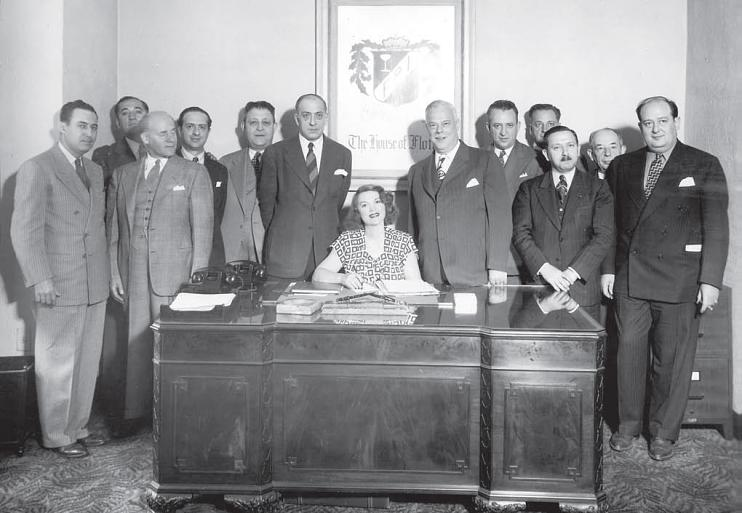 Tillie Lewis and brokers, 1945