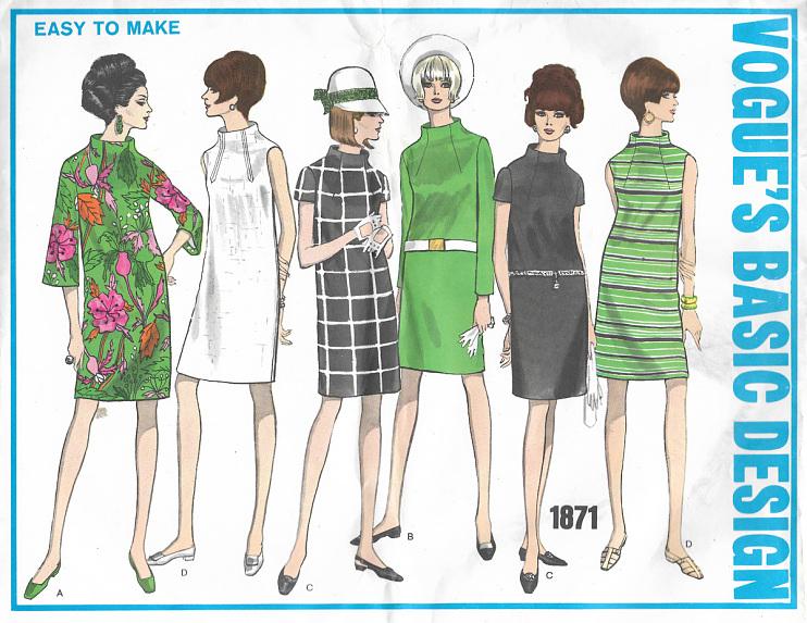 Vogue's Basic Design,pattern book, 1969