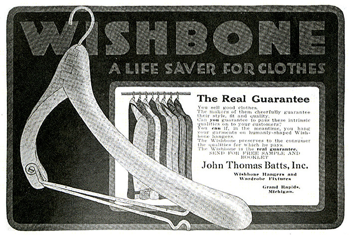 Ad from The Clothier and Furnisher, 1920