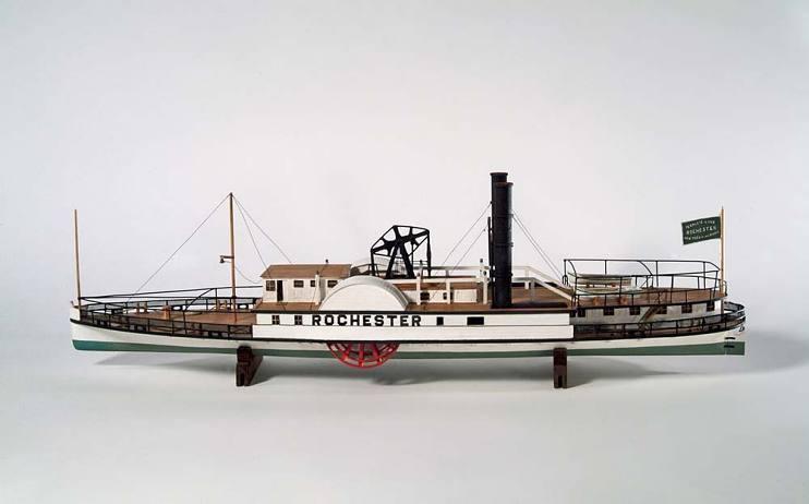 Auf dem Hudson River verkehrender Dampfer Rochester, 1836