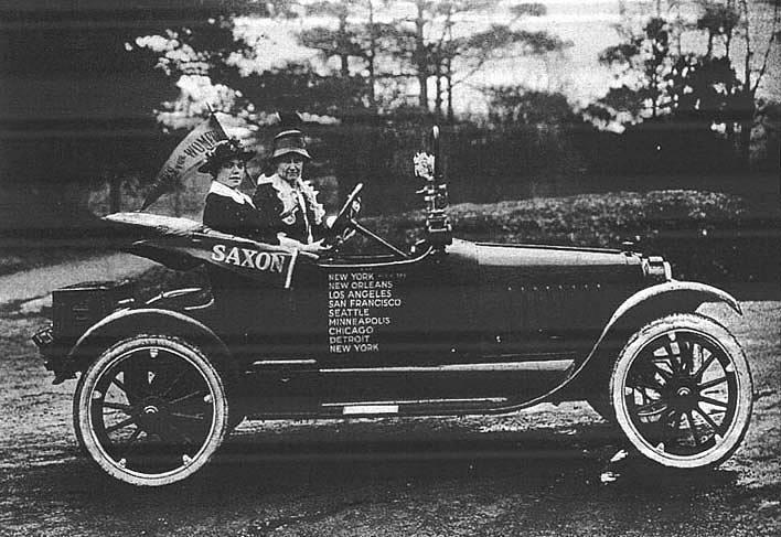 Нелл Ричардсон, Элис Берк и «Золотой флаер», 1916 г.