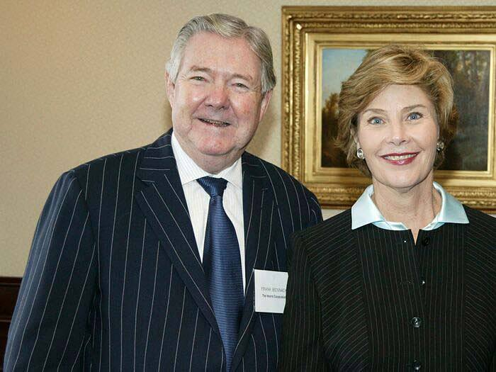 Frank Bennack with First Lady Laura Bush in the Good Housekeeping Institute, circa 2007