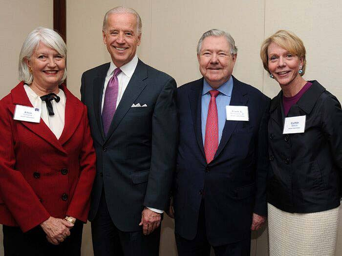 Frank Bennack (second from right) with (left to right) Ellen Levine, Hearst Magazines editorial director, Vice President Joe Biden, and Cathie Black, president of Hearst Magazines, circa 2010