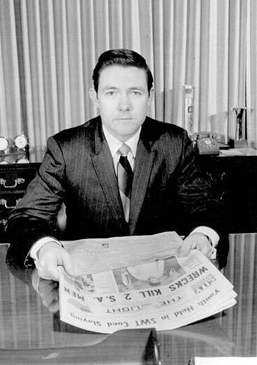 Frank Bennack, probably 1968 or 1969, as a newly minted publisher of Hearst's San Antonio Light