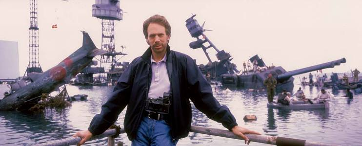 Jerry Bruckheimer on the set of the war epic Pearl Harbor, 2000