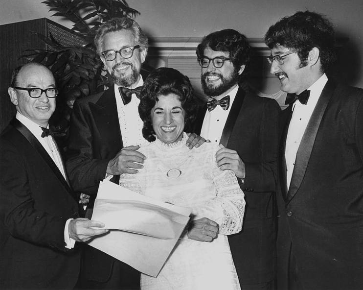Ed Cramer, Boudleaux Bryant, Felice Bryant, Dane Bryant, and Del Bryant at the 1971 BMI Country Music Awards in Nashville, TN