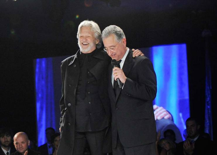 Kris Kristofferson and Del Bryant at the 2009 BMI Country Music Awards