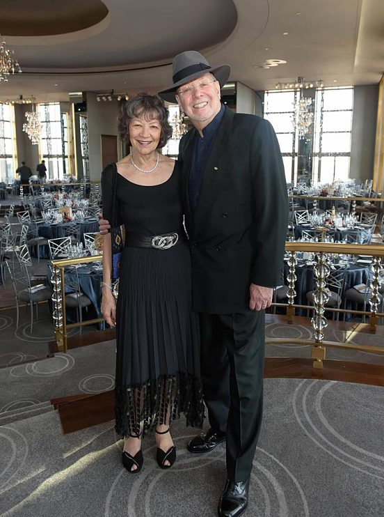 """Don and Maggie at the Rainbow Room celebrating Don's 80th birthday and """"Best of Brooklyn"""" recognition by the Brooklyn College Foundation, May 2016"""