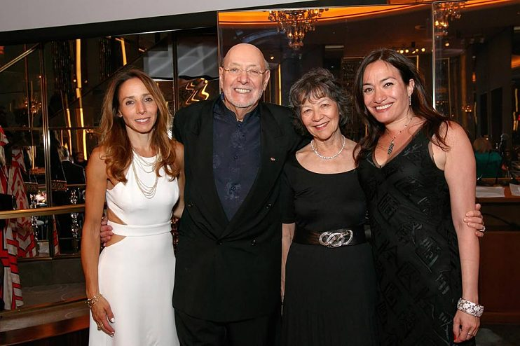 Don and Maggie (center) with daughters Julia (left) and Laura at the Rainbow Room, 2016