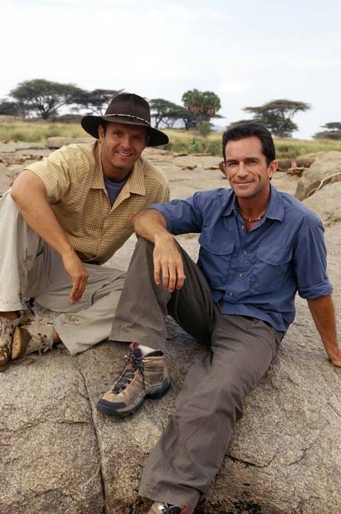Survivor: Africa host Jeff Probst, right, and executive producer Mark Burnett