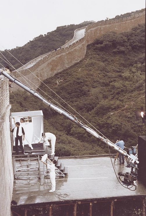 Behind the scenes at the Great Wall of China, 1986