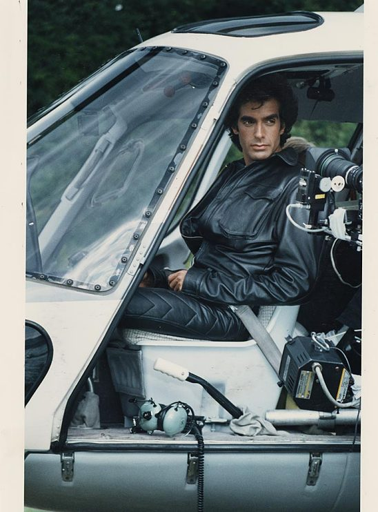 David Copperfield in helicopter at Niagara Falls,1990