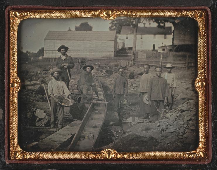 Gold rush miners, 1852