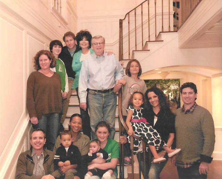 Bob Daly and his family at their California home