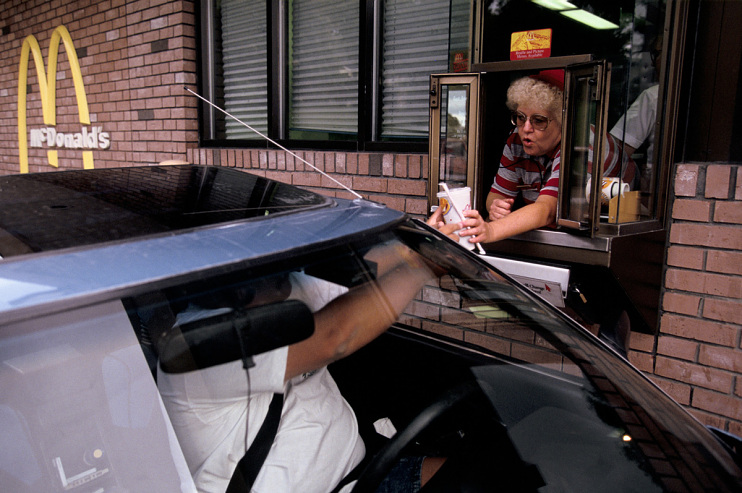 McDonald's drive-thru, about 2000