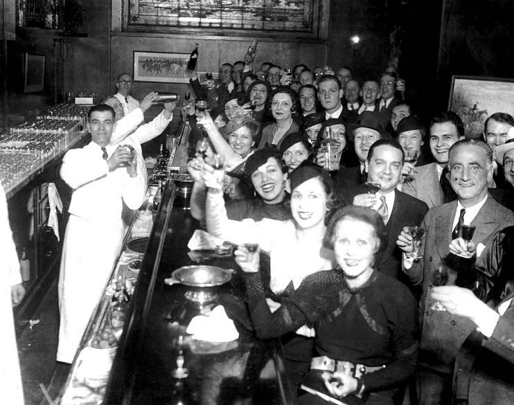 Celebrating repeal in Chicago, 1933