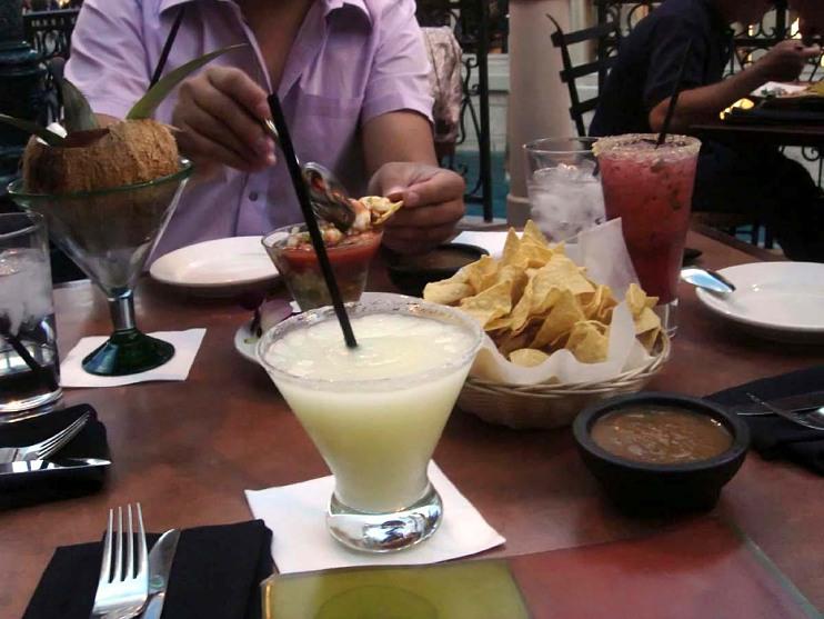 Frozen margarita, chips, and salsa, Las Vegas, 2005