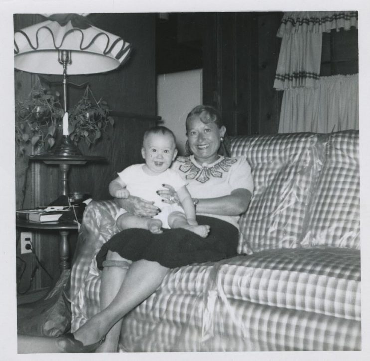 Brian Grazer and his grandmother, Sonia, in 1951