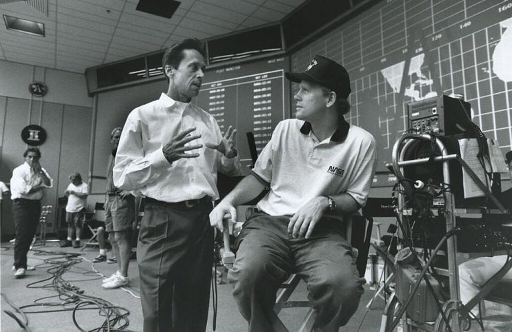 Brian Grazer and Ron Howard on the set of Apollo 13