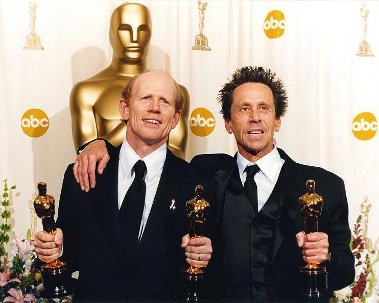 Ron Howard and Brian Grazer at the 2002 Oscars