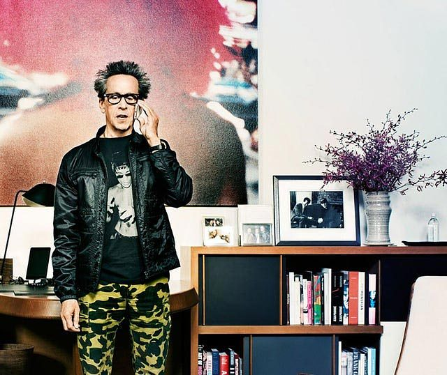 Brian Grazer in his Los Angeles home office