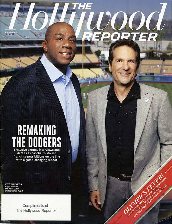 Peter Guber and Magic Johnson grace the cover of The Hollywood Reporter