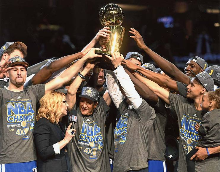 Peter Guber and the 2015 NBA Champion Golden State Warriors