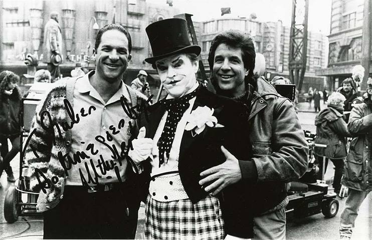 Peter Guber, Jack Nicholson, and Jon Peters on set of Batman — produced by Peter Guber