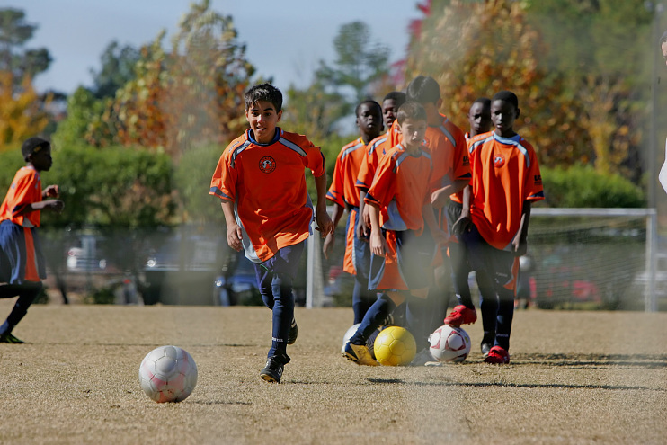 Fugees soccer team, Clarkston, Georgia, around 2007