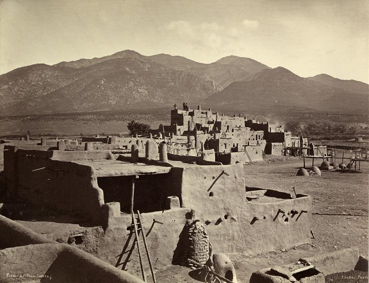 Taos Pueblo, by John K. Hillers, 1880