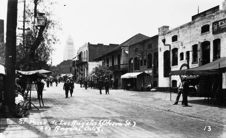 La Plaza/El Pueblo, Downtown Los Angeles, around 1930