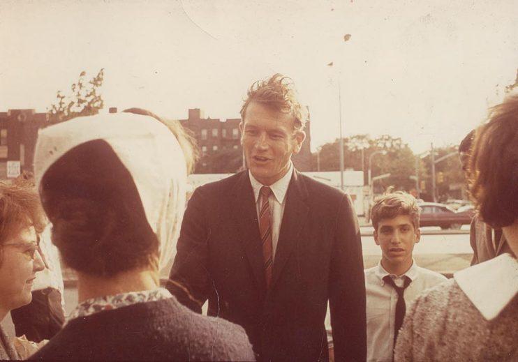 Katzenberg at 14 with John Lindsay during Lindsay's successful New York mayoral race