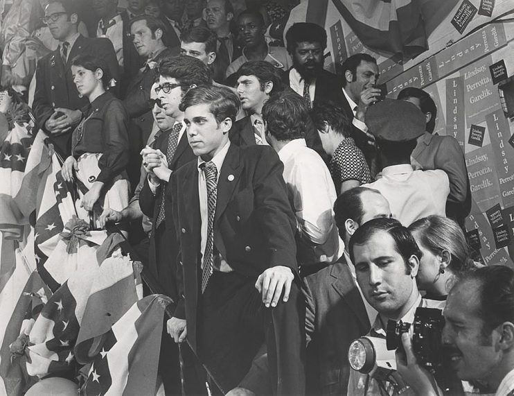Katzenberg working as assistant and political organizer on John Lindsay's 1972 presidential campaign