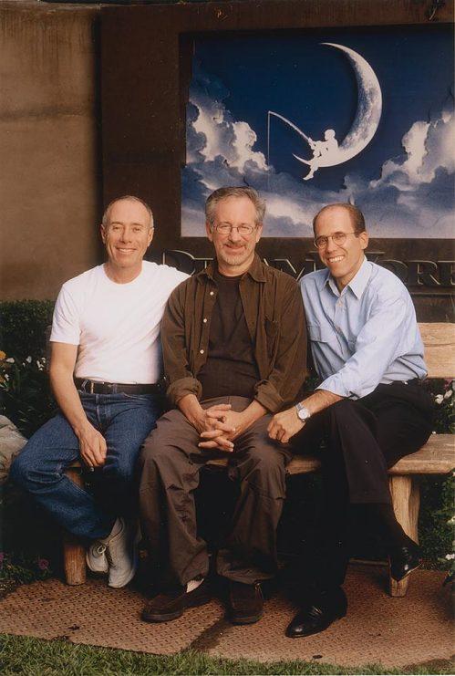 Left to right, David Geffen, Steven Spielberg, and Jeffrey Katzenberg
