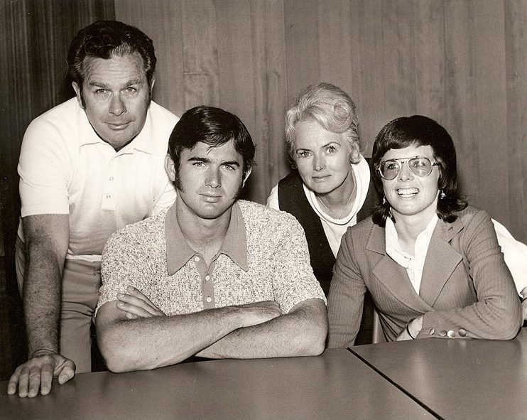 The Moffit family in 1972: (left to right) Bill Moffit, Randy Moffit, Betty Moffit, and Billie Jean Moffit