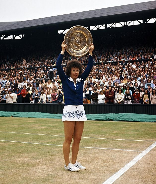 With the Wimbledon trophy in 1975