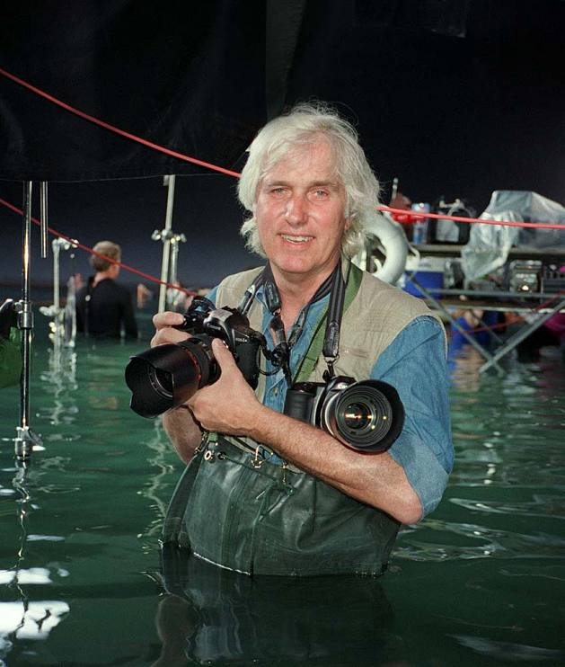 Douglas Kirkland on set of Titanic, 1996