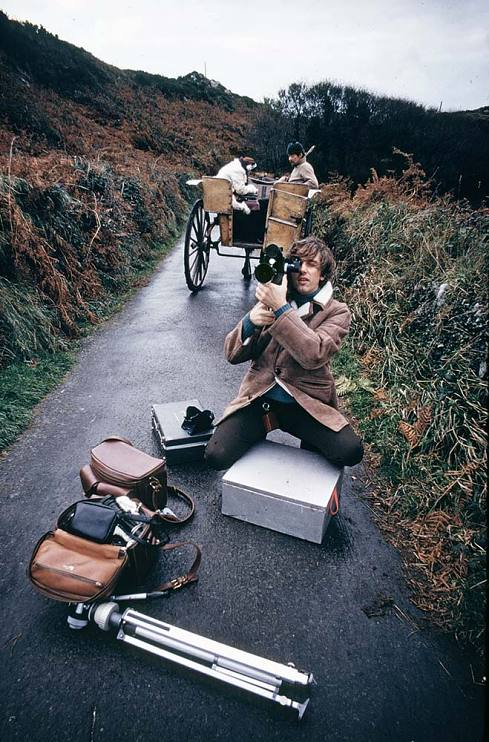 Douglas Kirkland at work on his documentary Good Bye Home, on why people were leaving Ireland, 1969