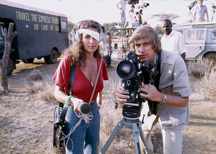 Françoise and Douglas Kirkland in Kenya, 1973